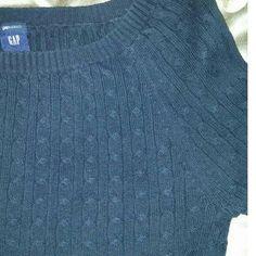 listing GAP crew neck Crew neck, cable knit. No flaws. 98% cotton, 1% Lycra, 3% other fiber. GAP Sweaters Crew & Scoop Necks