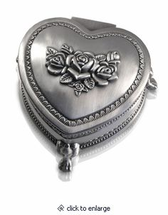 Heart With Roses And Clawfoot Cremation Urn Keepsake Box