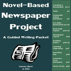 This guided writing packet walks students step-by-step through the process of writing, editing, and illustrating 6 newspaper articles about any novel the students have read and assembling their paper for a beautiful project to include in their portfolios! Completed newspapers make perfect peer recommendations for students looking for a new book to delve into!