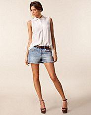 Maya Denim Shorts - Vila - Deniminsininen - Housut & shortsit - Vaatteet - NELLY.COM