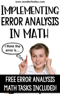 Want to help your students analyze math at higher levels? This post breaks down why students analyzing math errors is important and how you can easily implement this into your classroom. Math Resources, Math Activities, Math Enrichment, Teaching Strategies, Math Worksheets, Eureka Math, Math About Me, 8th Grade Math, Math Classroom