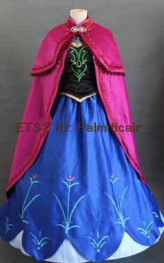 Disney Frozen Anna Costume Anna Dress Cosplay Outfit, Frozen Princess Dress Custom Any Size For adult,Kids And Plus Size by palmiticair on Etsy https://www.etsy.com/listing/215796888/disney-frozen-anna-costume-anna-dress