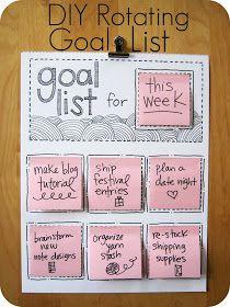 Cornflower Blue: DIY Rotating Goal List