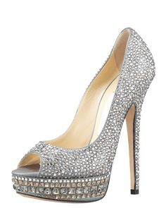 Kendall Beaded Platform Pump by Jimmy Choo - I will never, ever, ever be able to afford shoes like this - but how fun!