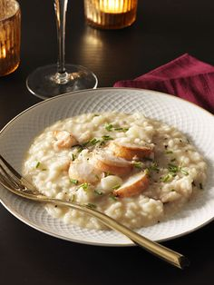 Brown-Butter Risotto with Lobster