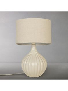 6c31f9dbc0fd John Lewis & Partners Betsy Ceramic Table Lamp, Cream at John Lewis &  Partners Ceramic