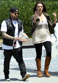 Benji Madden out and about with a friend (May 7, 2014)