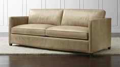 light colored leather love seat