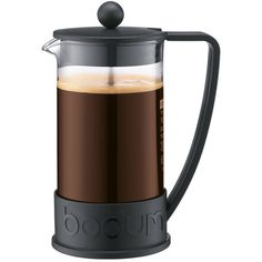 Bodum Brazil 8 Cup French Press Coffee Maker - Black (€25) ❤ liked on Polyvore featuring home, kitchen & dining, food, filler, kitchen and bodum