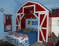 Idea para cama; Motivo Granero para habitación infantil...