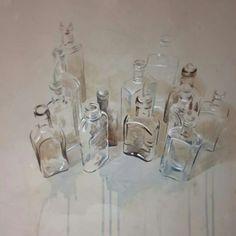 Glass I Nono Garcia I Watercolour Watercolor Painting Techniques, Watercolour Painting, Painting & Drawing, Watercolours, Reflection Art, Basic Drawing, Watercolor Sketch, Art Lessons, Still Life