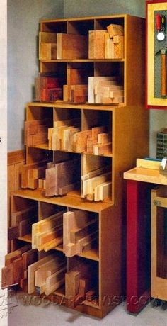 Stacking Cutoff Bins - Workshop Solutions Plans, Tips and Tricks   WoodArchivist.com #woodworkinginfographic