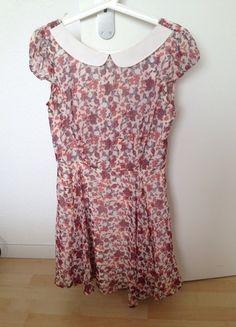 Kaufe meinen Artikel bei #Kleiderkreisel http://www.kleiderkreisel.de/damenmode/kurze-kleider/134136630-geblumtes-kleid-mit-kragen