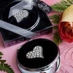 Espejo Compacto con Corazón - Recuerdos originales y más para todo tipo de eventos sociales y empresariales.