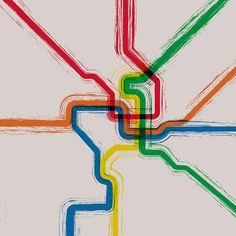 Washington DC Metro Poster  20x20 by bigNICKELgraphics on Etsy, $35.00