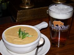 Winter recipes: Cheddar ale soup from the Grizzly Peak Brewing Company - Detroit restaurant | Examiner.com