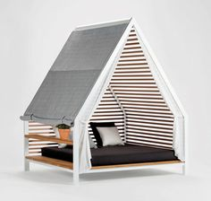 Have you ever just wanted to move your bed outside so that you could sleep under the stars? Or, so you can pretend you're camping without having to sleep on the ground? Luckily Milan-based designer Patricia Urquiola has created something where you can do just that.