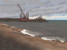 Danny Mooney 'Dusk, 14/10/2014' iPad painting #APAD