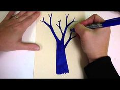'Y' Tree Video--use this method with the winter silhouette project.