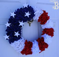 Awesome & patriotic, now that I'm making more wreaths than anything lately.