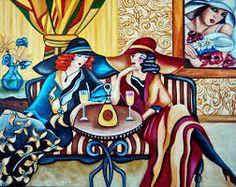 Secret Hat Society Inspired by Tamara de Lempicka