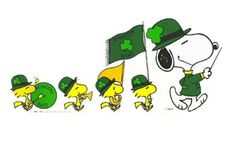 SNOOPY & WOODSTOCK~ST. PATTY'S DAY BAND