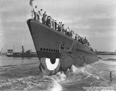 USS Parche SS 384, a Balao Class submarine originally launched from the Portsmouth Naval Shipyard, Kittery, Maine in 1943.