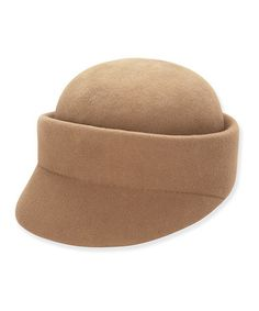 Take a look at this Taupe Fleming Wool-Blend Newsboy Cap on zulily today!