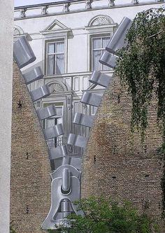 Painted streetart, Berlin, Kreuzberg