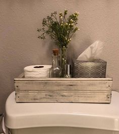 Blessed, Farmhouse Style Crate, Farmhouse Decor, Table Centerpiece,Back of the Toilet, Mason Jar Crate, Rustic Wood Box, French Country, W - #Bañospequeñosmodernos #Bañosrústicos #Cuartodebaño #Cuartosdebañospequeños #Decoraciondebañospequeños #Mueblesdebaño