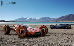 Futuristic Car, Peugeot XRC Concept by Tiago Aiello, Future Car, Dune Buggy, Futuristic Vehicle
