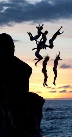cliff jumping silhoutte | re-pinned by  http://www.wfpblogs.com/author/aperfectmale/