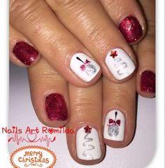 Christmas Nail Designs - My Cool Nail Designs New Nail Designs, Black Nail Designs, Cute Toe Nails, Toe Nail Art, Pretty Nails, Summer Toe Nails, Winter Nails, Christmas Nail Designs, Christmas Nail Art