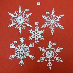 PDF Pattern for 5 Crocheted Snowflakes set 26 by TheNeedleWorks