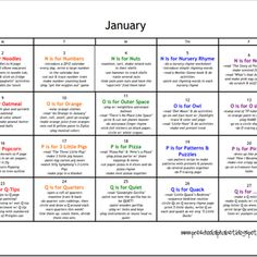 Preschool Alphabet: Preschool Plan for November