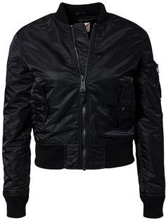 Ac Bomber Jacket - Schott - Black - Jackets And Coats - Clothing - Women - Nelly.com
