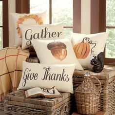 Autumn Pumpkin Pillow Cover | Celebrate the harvest season with these festive pillows, full of rustic charm.