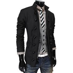 I love this rebellious layering for a smart-casual look. Jacket $46.19
