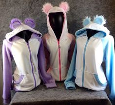PAWSTAR Pastel Panda Hoodie YOU Pick Size Color Theme jacket Coat Cosplay costume fairy kei Anime Kawaii Japanese Japan furry apparel 6153 on Etsy, £51.95