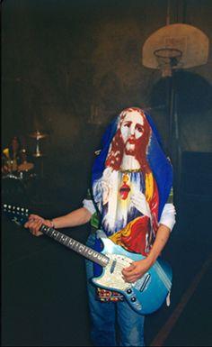 Kurt Cobain during the Smells Like Teen Spirit music video shoot #Nirvana