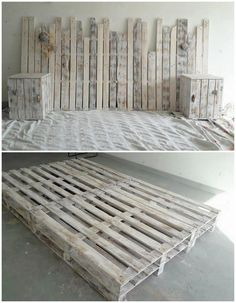 This is truly an impressive structure of the wood pallet for your bedroom! Yes, it is all about the wood pallet headboard. In this headboard creation you will even encounter side table and bed frame too. Its attractive feature would be the creative designing of the headboard that is attention grabbing.