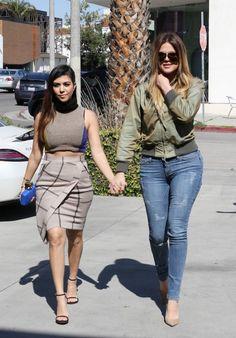 Khloe and Kourtney Kardashian - Confetti-bombed in WeHo