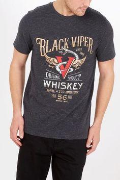 Buy Black Viper Graphic T-Shirt from Next Taiwan