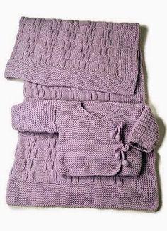 Eu que Fiz - Vovó Baisa: Conjunto em tricô - bebê