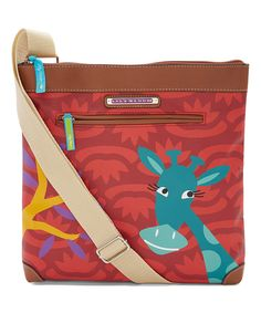 Lily Bloom Red Giraffe Critter Crossbody Bag by Lily Bloom #zulily #zulilyfinds