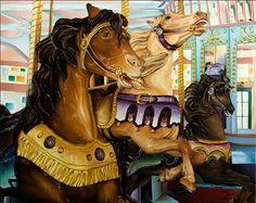 "Kerry Allen Art - ""Flying Horses, New Orleans City Park Carousel"""