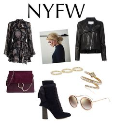 """""""Play suit party! NYFW lets do this!"""" by jenna-lxx on Polyvore featuring Zimmermann, Chloé, Jennifer Fisher, Luv Aj, Veronica Beard and Fendi"""