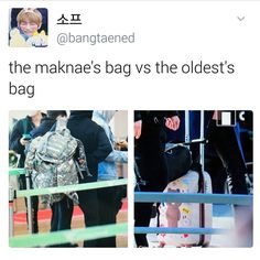 "697 Me gusta, 2 comentarios - BTS MEMES (@dirtyoongi) en Instagram: "" Jins suitcase is so cute ma hearteu #BTS"""