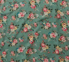 I adore this print. Kingswood Rose Teal Green | our brand new floral for autumn winter in five colourways, bringing modern vintage to fashion, bags, accessories and home. #cathkidston