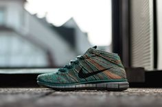 Picture of Nike Flyknit Chukka Mineral Teal/Dark Obsidian-Hyper Jade-Copper Mens Fashion Casual Wear, Gents Fashion, Men's Shoes, Shoe Boots, Nike Free Flyknit, Comfortable Sneakers, Nike Shoes Outlet, Casual Shoes, Makeup Trends